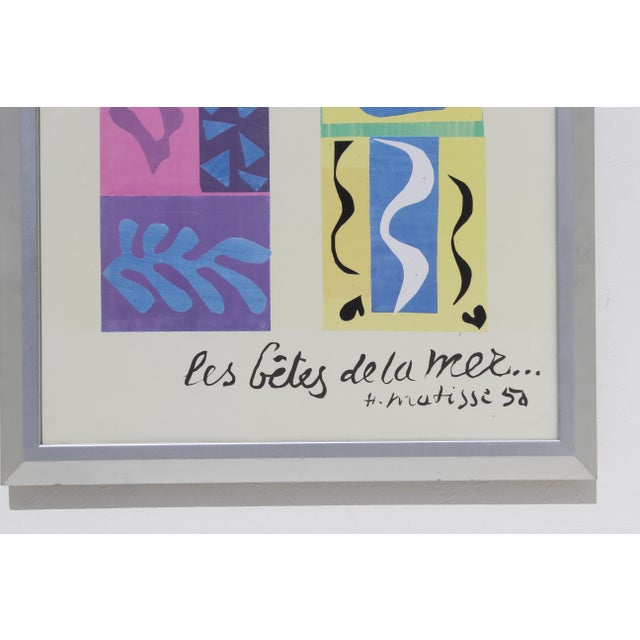 Mid 20th Century 20th Century Modern Matisse Poster With Brushed Silver Frame For Sale - Image 5 of 7