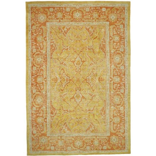 Contemporary Turkish Oushak Rug - 12′6″ × 18′6″ For Sale