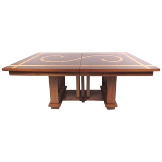 Impressive Dining Table in the Style of Frank Lloyd Wright For Sale