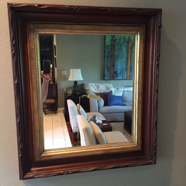 Rustic 1870's Faux Bois Folk Art Antique Mirror For Sale - Image 9 of 9