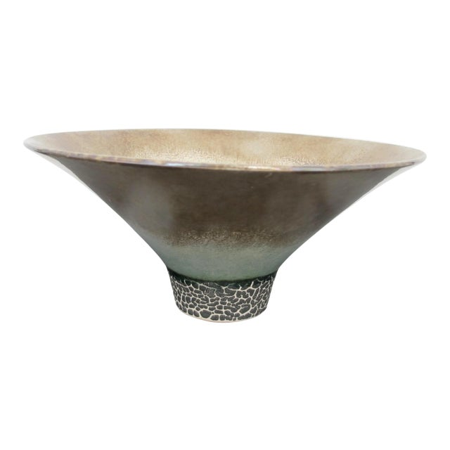 Kathy Erteman American Nyc Studio Pottery Conical Reflective Bowl Cup For Sale