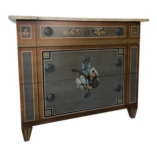 Tromp l'oeil 3 Drawer Chest For Sale