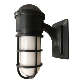 Black Maritime Wall Sconce For Sale