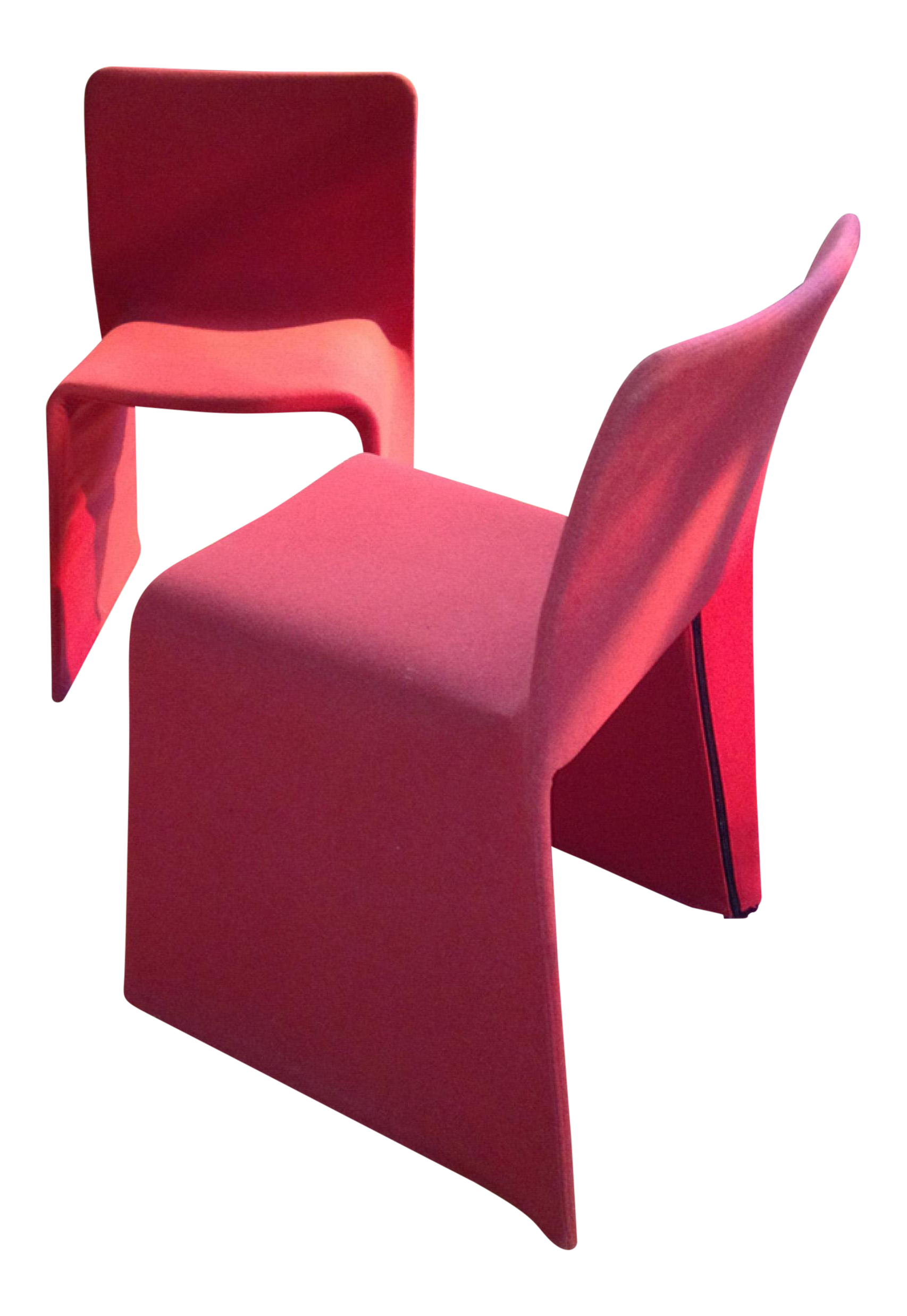 Vintage Used Red Dining Chairs Chairish