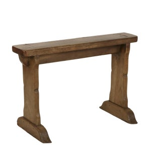 1880s English Narrow Fruitwood Bench For Sale