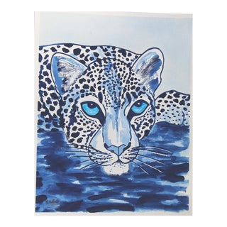 White Cheetah Leopard by Cleo Plowden For Sale