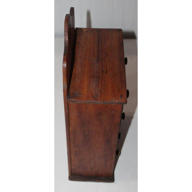 19th Century Wall Hanging Spice Cabinet - Image 6 of 7
