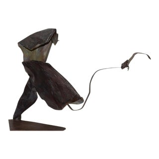 Vintage Figural Abstract Metal Sculpture II by Dannenfelser C.1980 For Sale