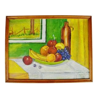 Vintage Framed Still Life Oil on Panel - Artist Signed For Sale