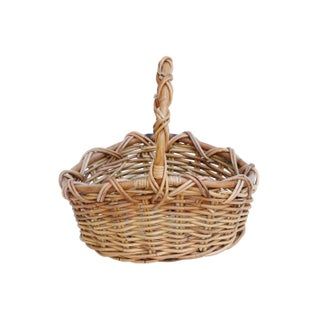 Vintage French Wicker Shopping Basket Preview