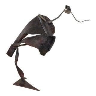 Vintage Figural Abstract Metal Sculpture by Dannenfelser C.1980 For Sale