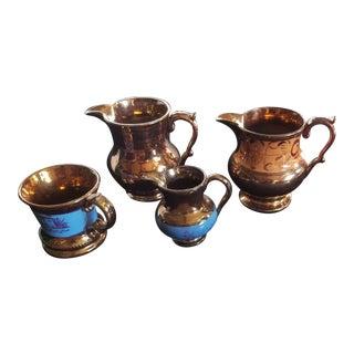 Antique Copper Lustre Collection For Sale