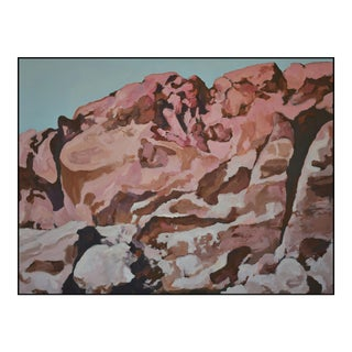 'Boulders and Red-Rock Canyon Wall' - a Large Painting by American Expressionist, George Brinner For Sale