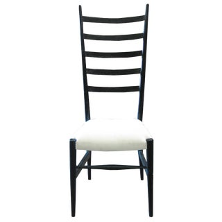 Ladder Chair, Hand Rubbed Black For Sale