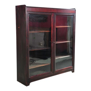 19th Century 2 Door Mahogany Bookcase For Sale