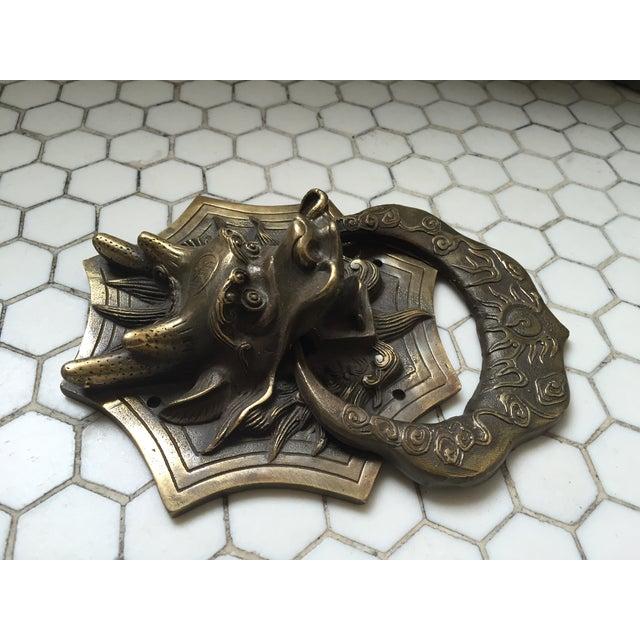 Asian Dragon Brass Door Knocker - Image 9 of 9