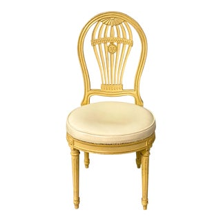 John Widdicomb French Style Balloon Back Chair For Sale