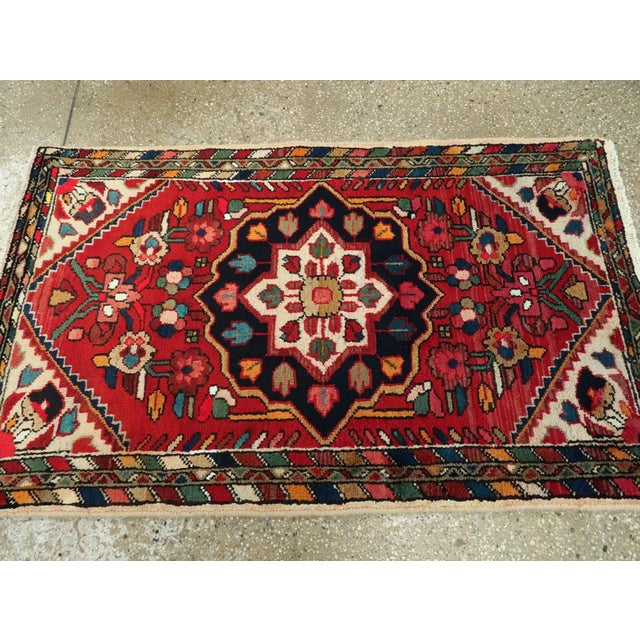 """Cotton Vintage Persian Hamadan Rug – Size: 2' 5"""" X 4' 1"""" For Sale - Image 7 of 9"""