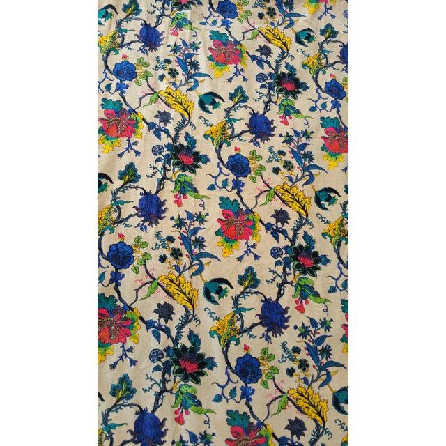 Blue Cotton Velvet Indian Design Pillows - Pair For Sale - Image 8 of 10