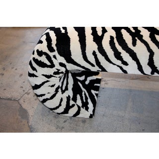 Faux Zebra Bench From Barbara Marx Sinatra Estate Preview