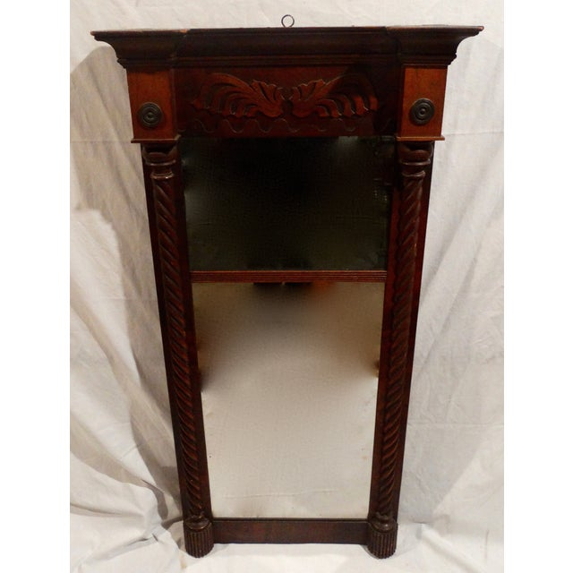 Antique American Federal Mahogany Mirror - Image 2 of 3
