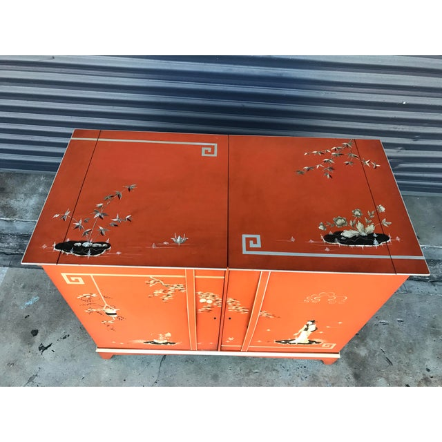 Vintage Chinoiserie Bar Cabinet - Image 10 of 11