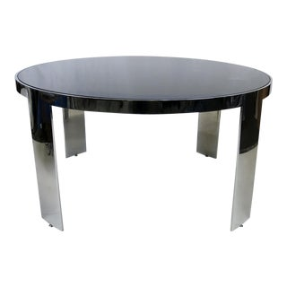 Polished Nickel Center Table by Pace For Sale