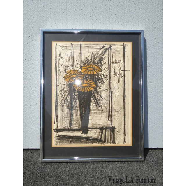 Vintage Mid Century Modern Style Lithograph by Famed Artist Bernard Buffet For Sale - Image 12 of 12