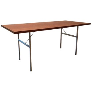 1950s Mid-Century Modern George Nelson for Herman Miller Steel Frame Dining Table For Sale
