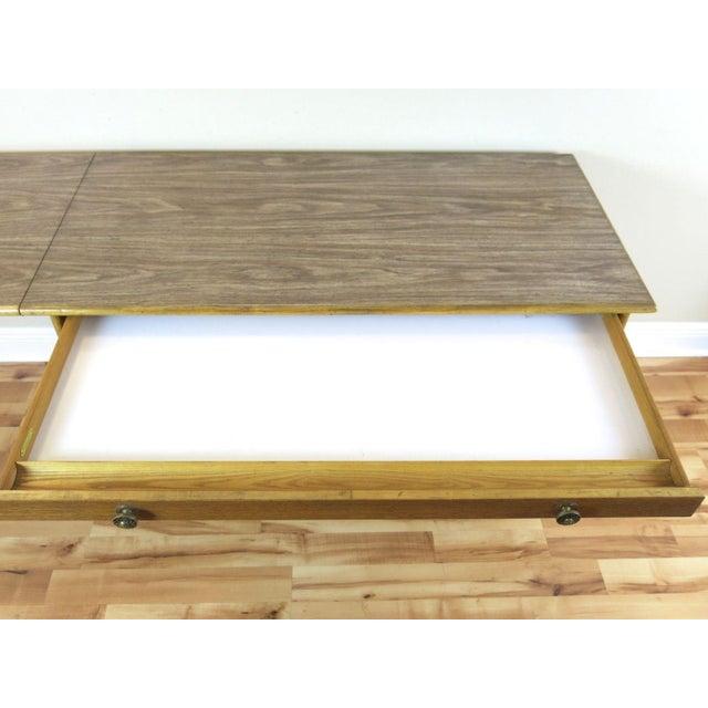 McGuire Bamboo Drop-Leaf Desk For Sale - Image 6 of 9