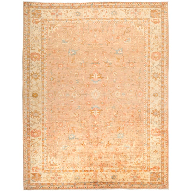 """Oushak Hand Knotted Area Rug - 9' 4"""" X 11' 9"""" - Image 4 of 4"""
