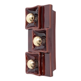 Set of Four 1970s Ceramic Wall Lamps