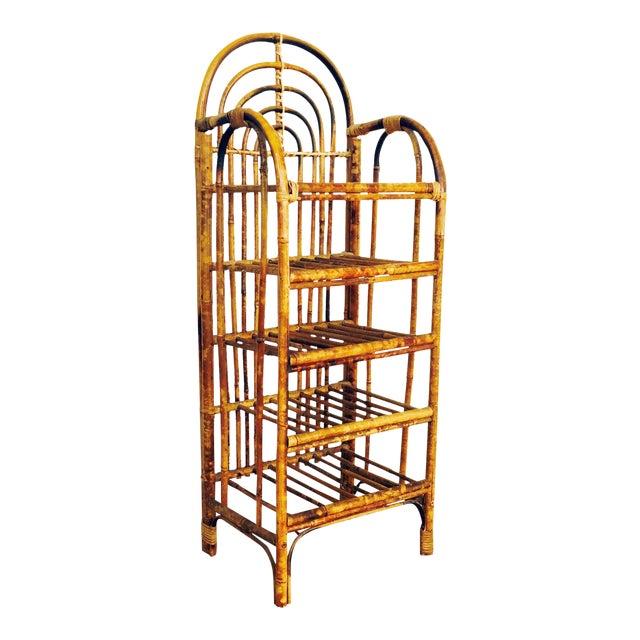 Vintage Bent Bamboo Bookshelf - Image 1 of 6