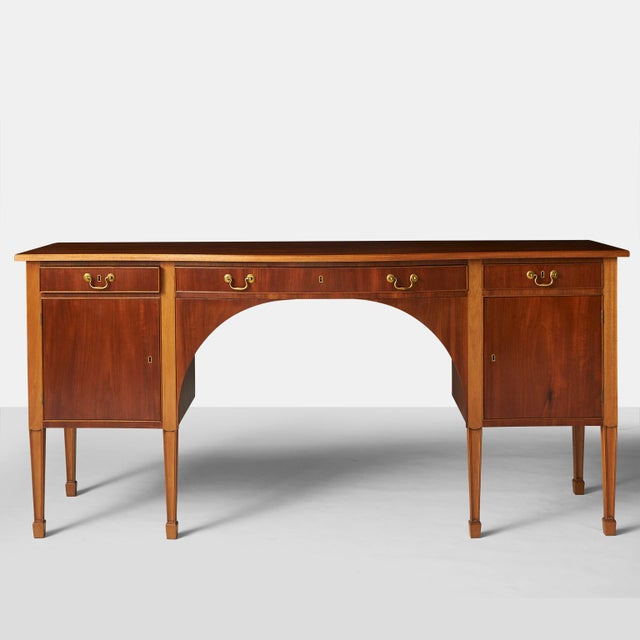 Brass A Frits Henningsen Sideboard in the Sheraton style For Sale - Image 7 of 7