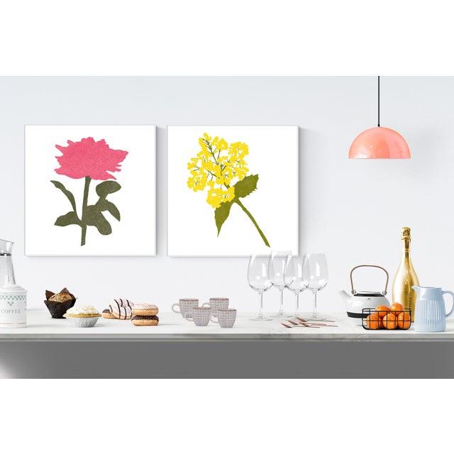 """Art Nouveau Jessica Poundstone Boho Chic Floral Fine Art Print #4 - 20"""" X 20"""" For Sale - Image 3 of 6"""