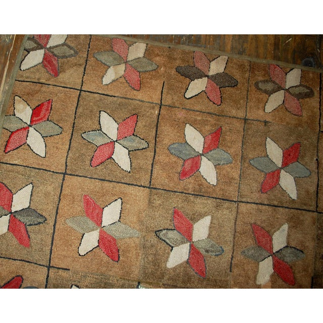 1880s Hand Made Antique American Hooked Rug - 3′1″ × 5′3″ For Sale - Image 4 of 7