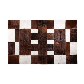 "Aydin Cowhide Patchwork Accent Area Rug - 6'6"" x 9'10"" For Sale"