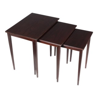 Mid-Century Gustavian Nesting Tables - Set of 3