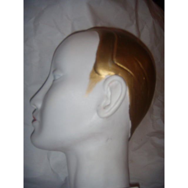 White Art Deco Style Mannequin Head For Sale - Image 8 of 9