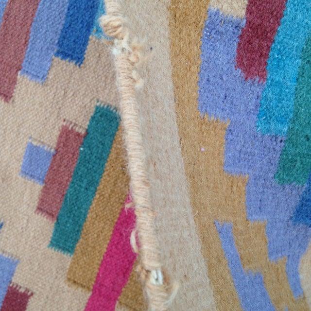 Flat Woven Wool Kilim Rug- 6' x 9' - Image 10 of 10