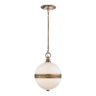 Visual Comfort Ralph Lauren Hendricks Small Globe Pendant For Sale