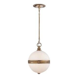 Visual Comfort Ralph Lauren Hendricks Small Globe Pendant For Sale