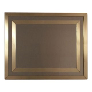 1970's Vintage French Modern Brass Mirror For Sale