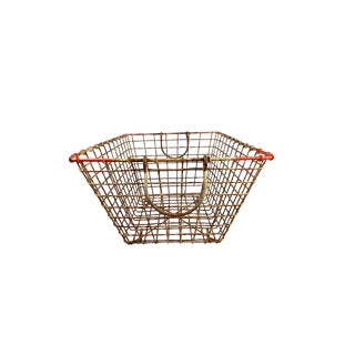 1990s Oyster Wire Basket For Sale