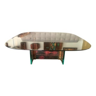 Vintage Coffee Table Smoked Glass For Sale