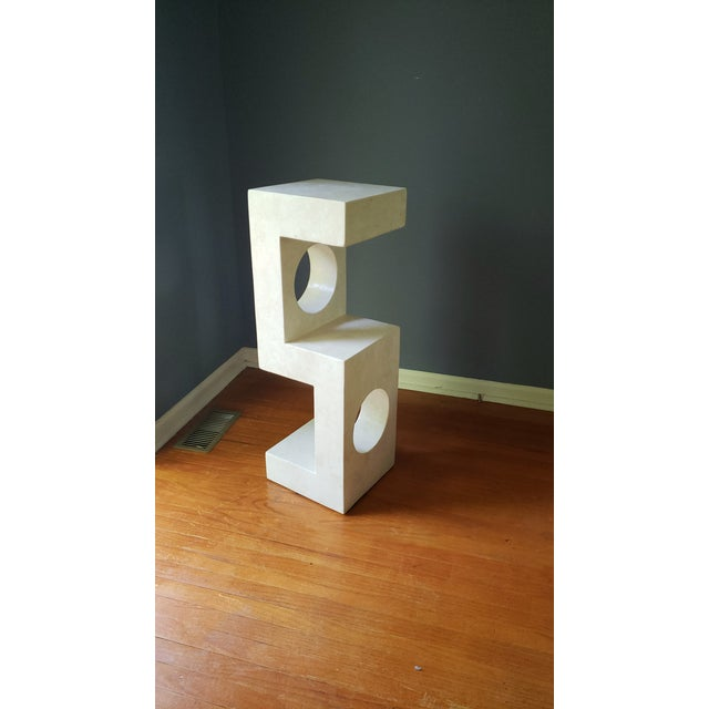 1980s Sculptural Tessellated Stone Display Pedestal For Sale - Image 13 of 13