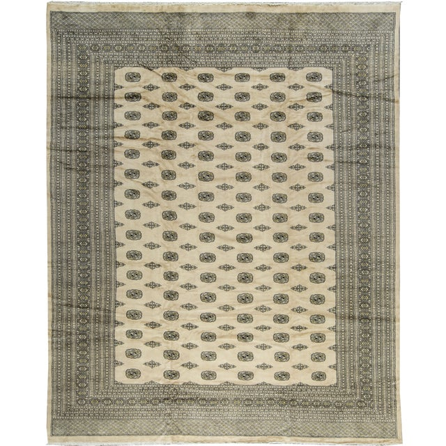 Traditional Bokhara Hand-Woven Rug - 12' X 15' - Image 1 of 3