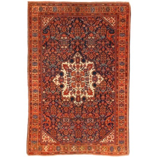 Late 19th Century Antique Persian Malayer Rug - 4′4″ × 6′6″ For Sale