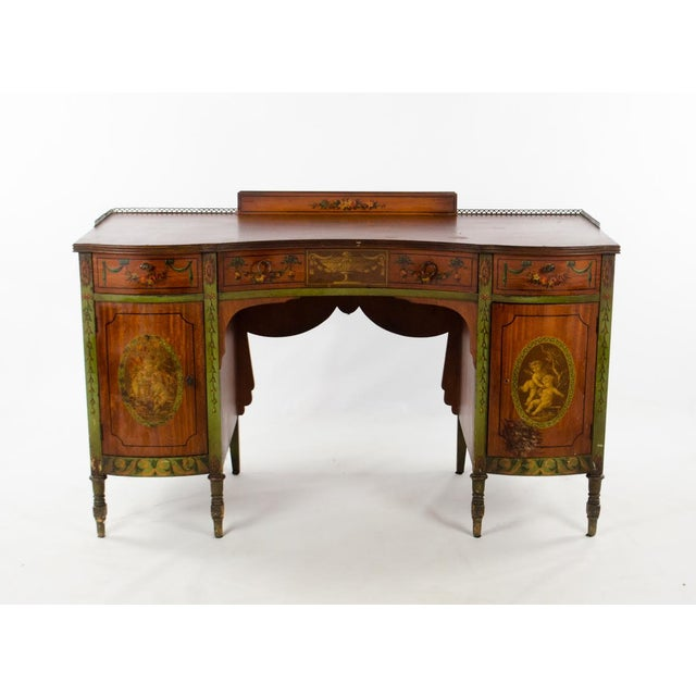 Mid 19th Century Vintage French Provincial Hand Painted Writing Desk For Sale - Image 13 of 13