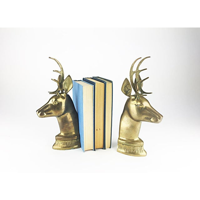 Vintage Elk Brass Bookends - A Pair - Image 3 of 6